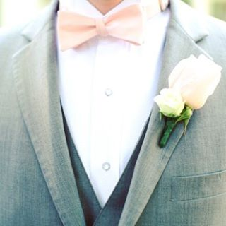It's time for the Ties by Lucy #WeddingWednesday spotlight! The trend we've noticed most this season is this light pink color for bridesmaids' dresses and groomsmen's ties. No matter the color or season, Ties by Lucy is happy to make your groomsmen ties. Get in touch today by emailing info@tiesbylucy.com. #groomsmen #bowtie #fashion #shoplocal #custommade