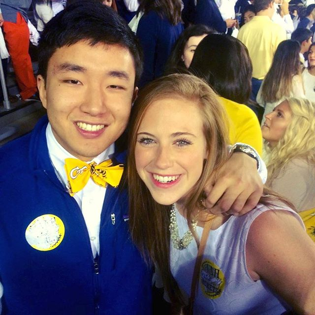 We have more game day ties for the fall season coming soon! We love this Georgia Tech tie that our customer Jack sported to a GT game last fall. All the new styles will be up within the week 🎉🤗🏉 #bowtie #football #sec #sec #georgiatech #gameday #uga #auburn #alabama #olemiss #fsu