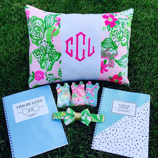 WIN some of these goodies!! Do you love our new Ties by Lucy bow tie bracelet? Win your very own plus a monogrammed pillow and cute magnets! See our last post for details on how to enter, and be sure to do it tomorrow before 5:00 PM EST 🎀🎉💕 #giveaway #entertowin #contest #handmade #preppy #girly #homedecor #freestuff #bowtie #fashion #lillypulitzer #igshop