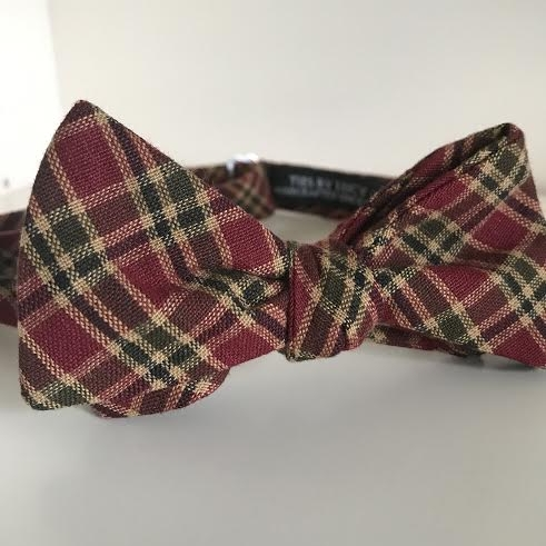 Green & red tartan plaid