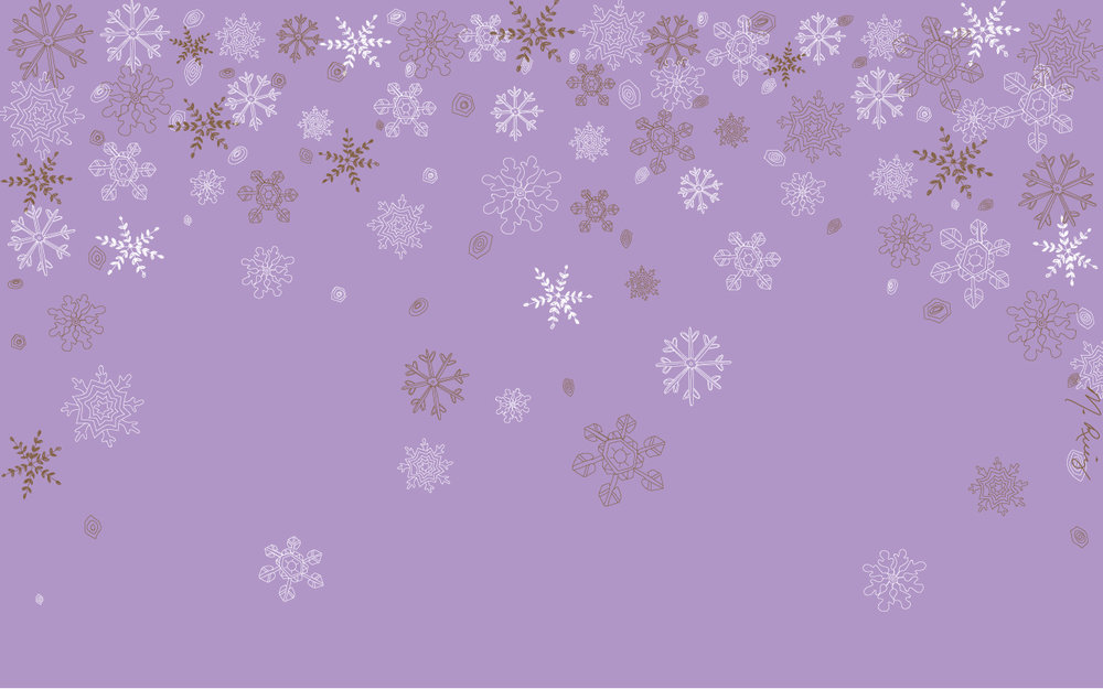 Purple Snowflake Flurry Desktop Wallpaper - 1280px x 800px