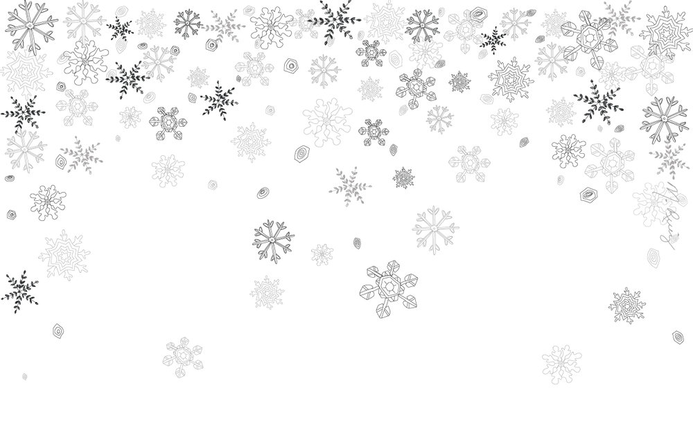 White Snowflake Flurry Desktop Wallpaper - 1280px x 800px
