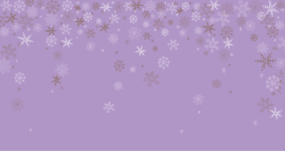 Purple Snowflake Flurry Desktop Wallpaper - 1920px x 1020px