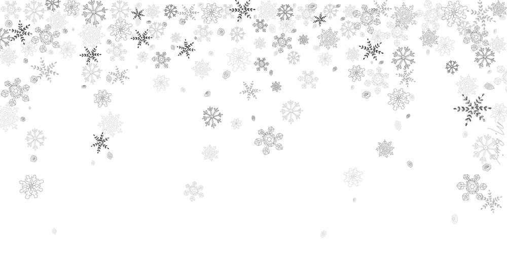 White Snowflake Flurry Desktop Wallpaper -  1920px x 1020px