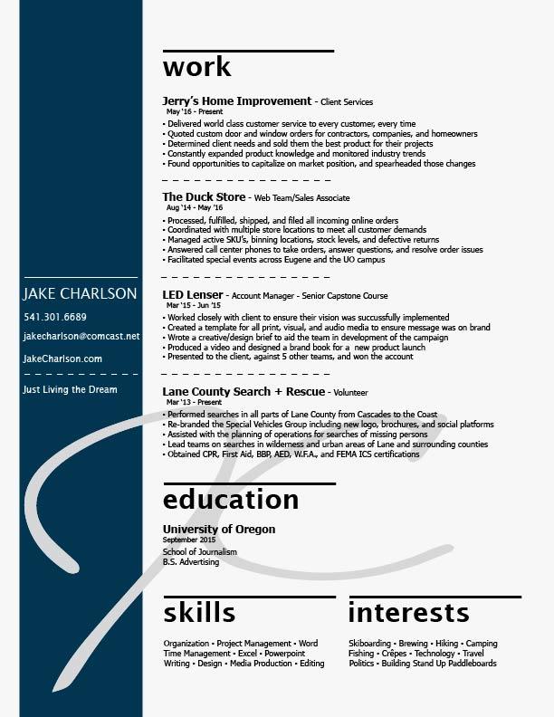 Résumé — JAKE CHARLSON