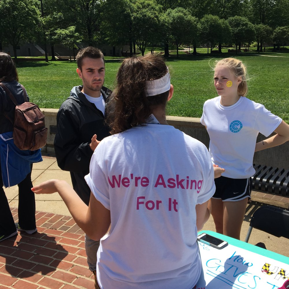 Cultures of Consent and UMD were asking for consent and communication on campus in May, 2016