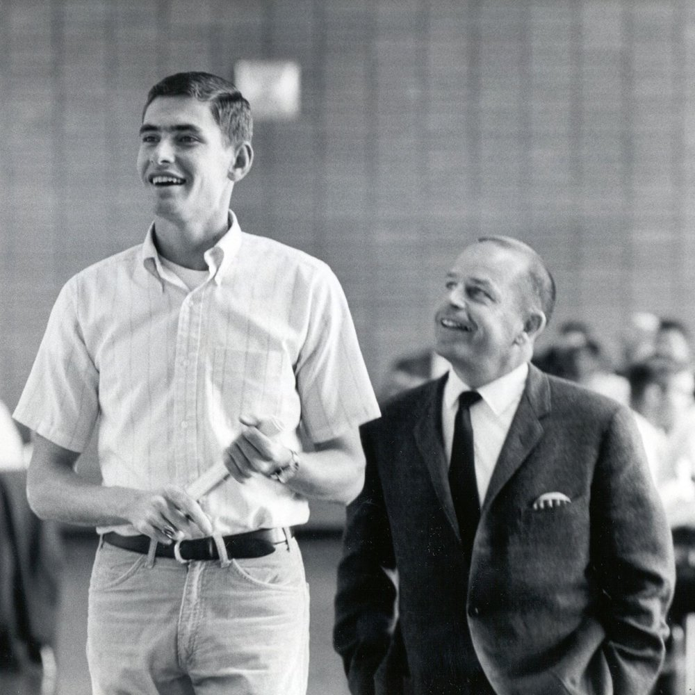 Jim Ryun and his coach, Bob Timmons.