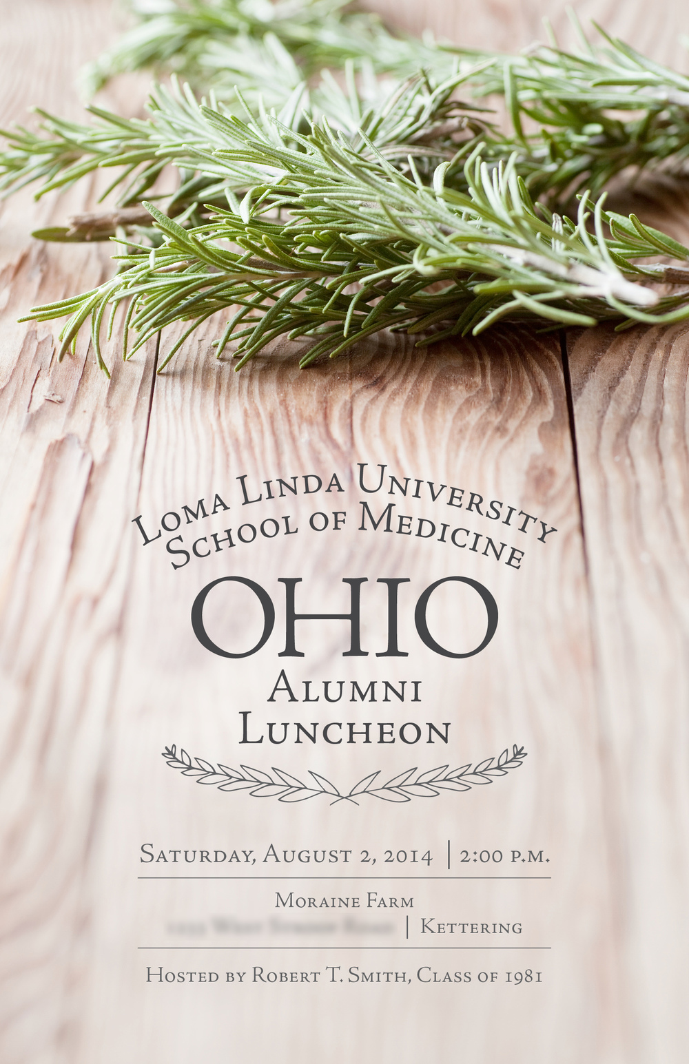 Ohio Alumni Event Invitation Kristina Benfield Design