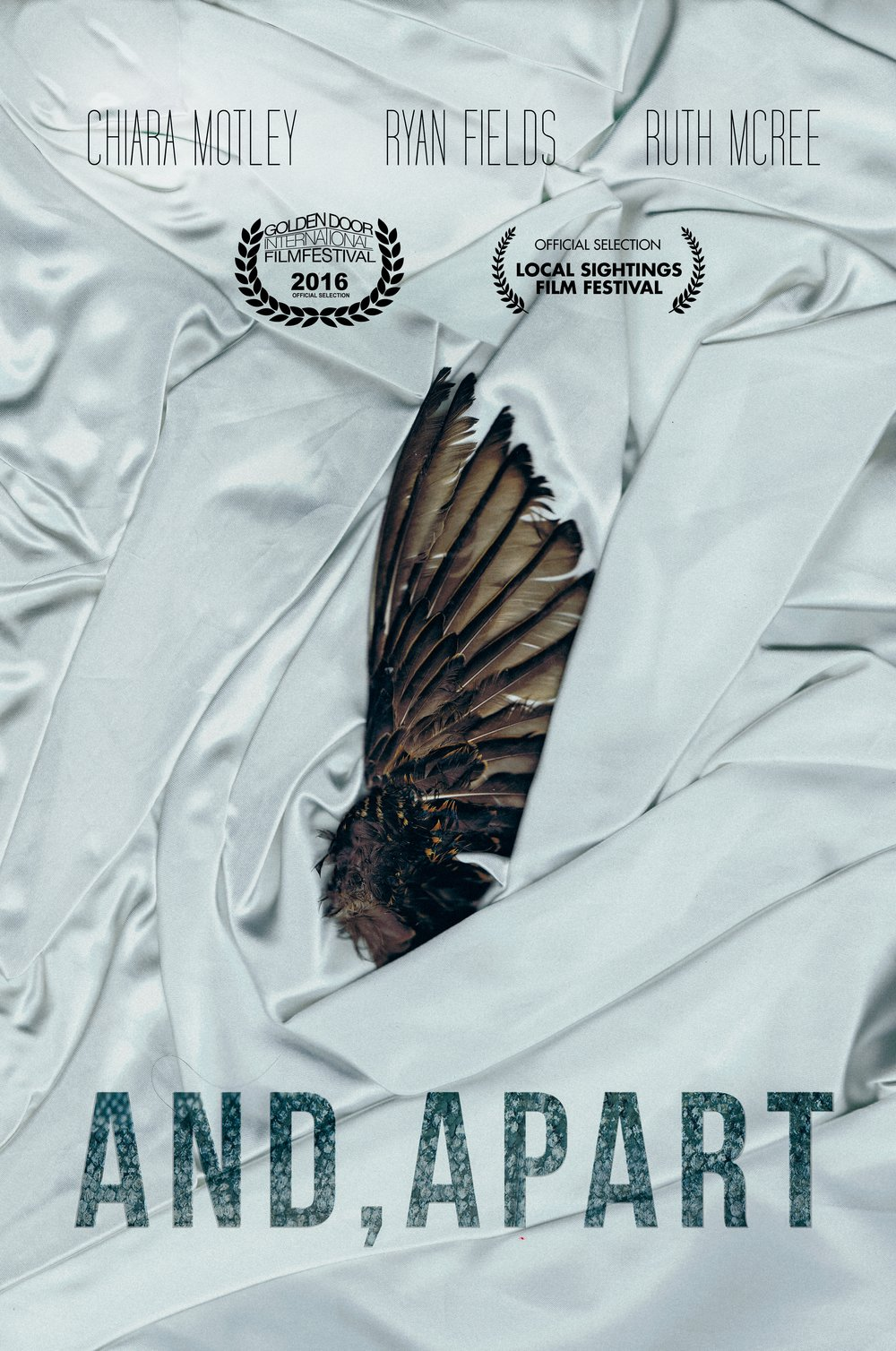 AND, APART is premiering September 25, 2016 at the Golden Door Film Festival.