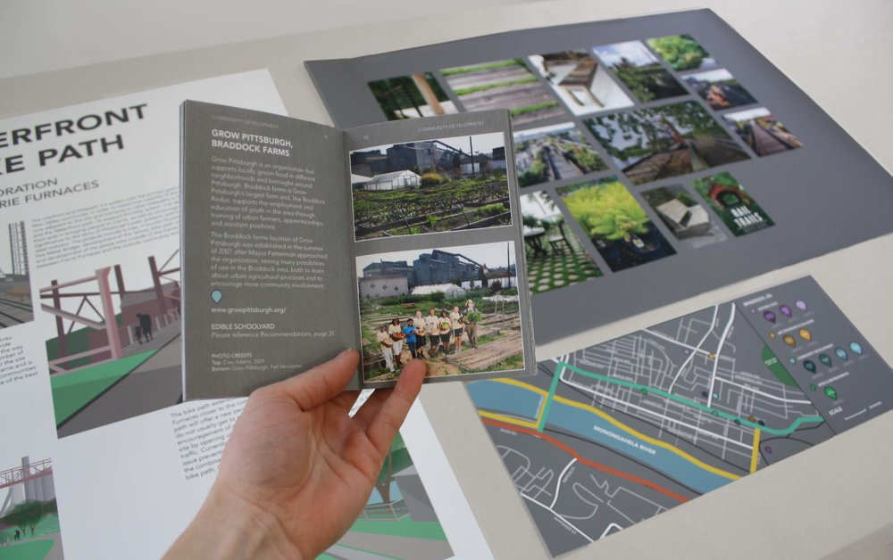 Includes the Braddock booklet, area map, moodboard, and final presentation board.