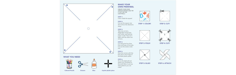 Kids pinwheel activity sheet