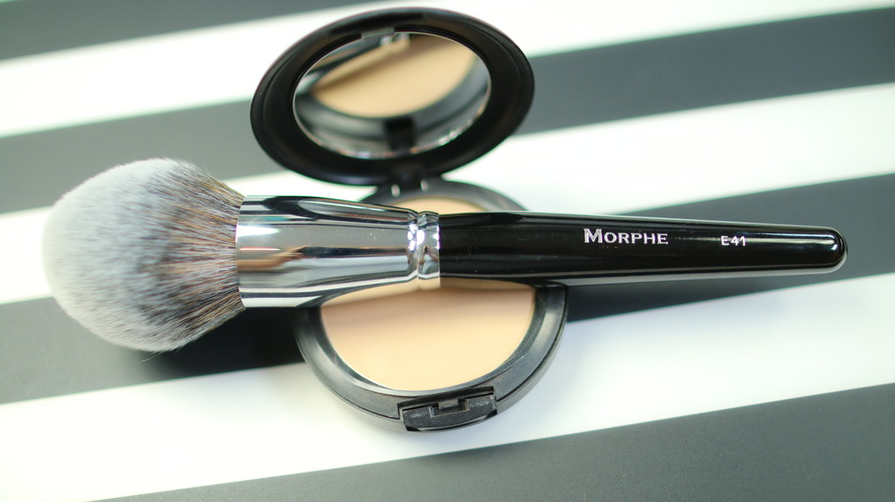 morphe blush brush. you want to keep it in a specific area. this brush is perfect for that job plus it\u0027s soft enough the tender under eye skin. morphe blush