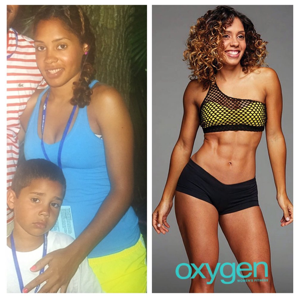Before (right after having Josiah) After (when I was featured in Oxygen Magazine).