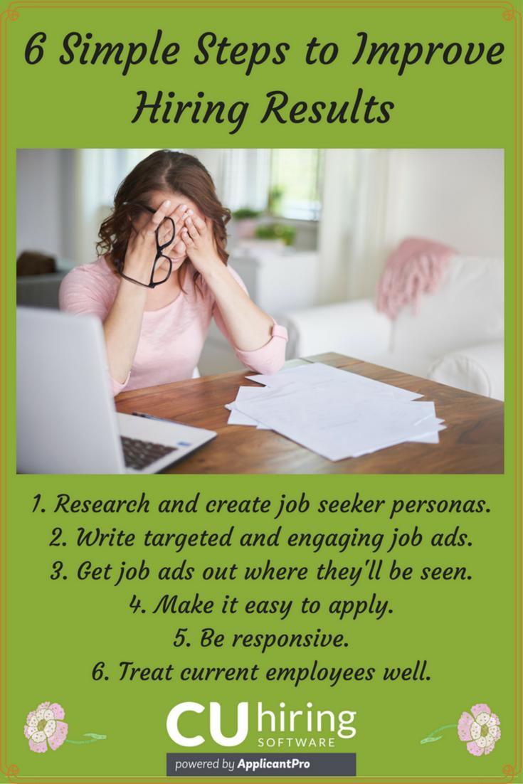 6 Simple Steps Improve Hiring Results CUhiring Pinterest
