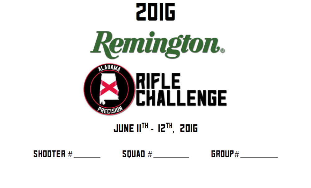 2016 Remington Alabama Precision Rifle Challenge Match Book
