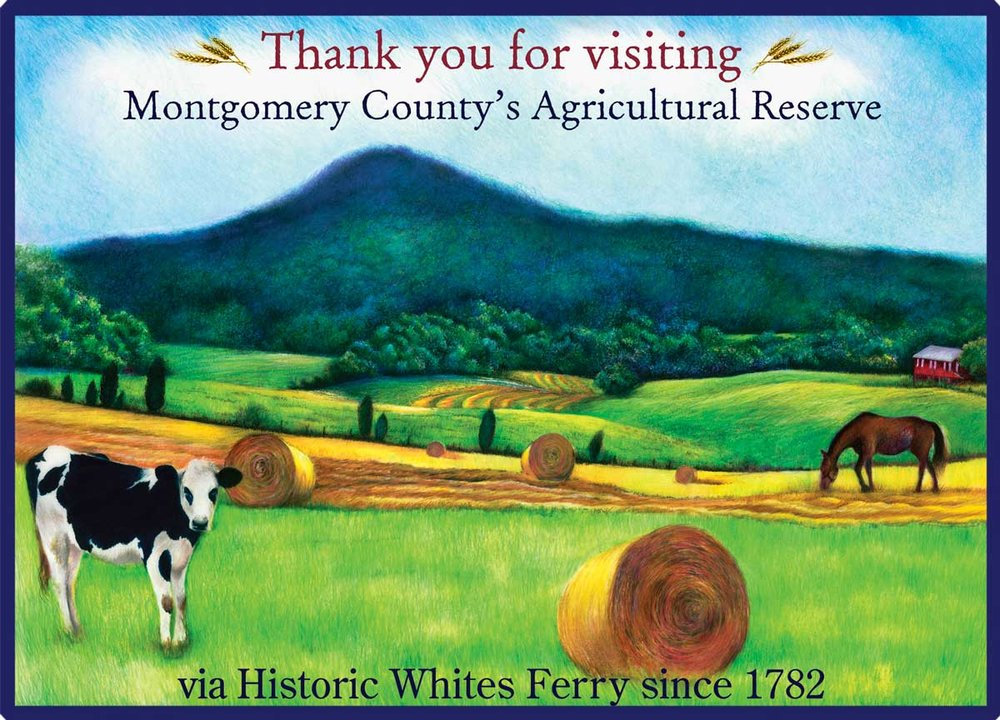 Whites Ferry Welcome Sign Graphic