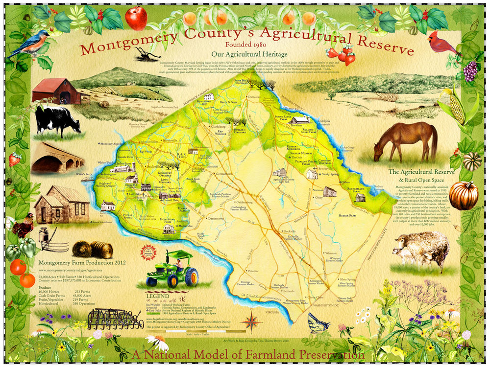 Montgomery County's Agricultural Reserve Map