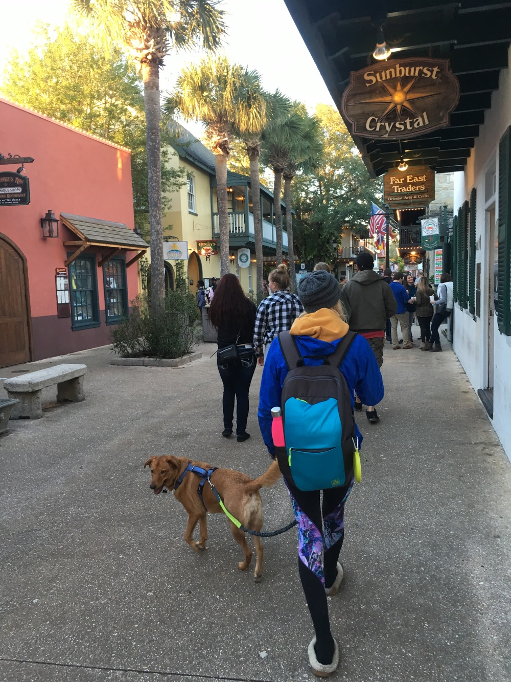 Brooke and Mila walking the historic streets of St. Augustine...