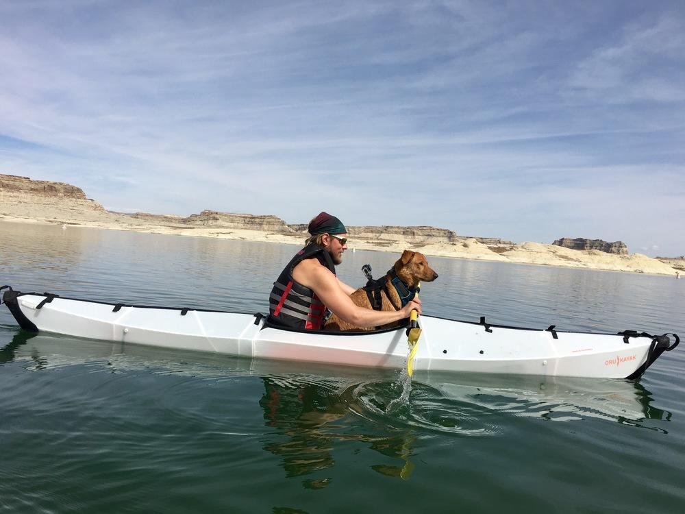 Me and Mila on Lake Powell