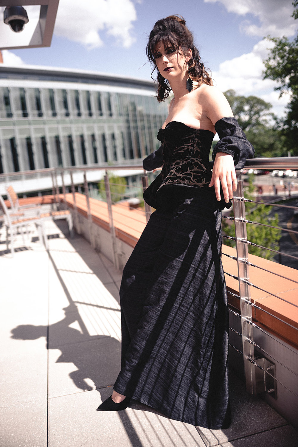 Laser Etched Silk Velvet Corset with Silk Shambala Pants and Sleeves