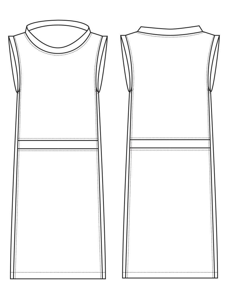 Dress Technical Flat