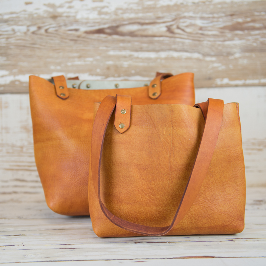 I created a smaller version of our best selling tote for customers looking for an everyday handbag.