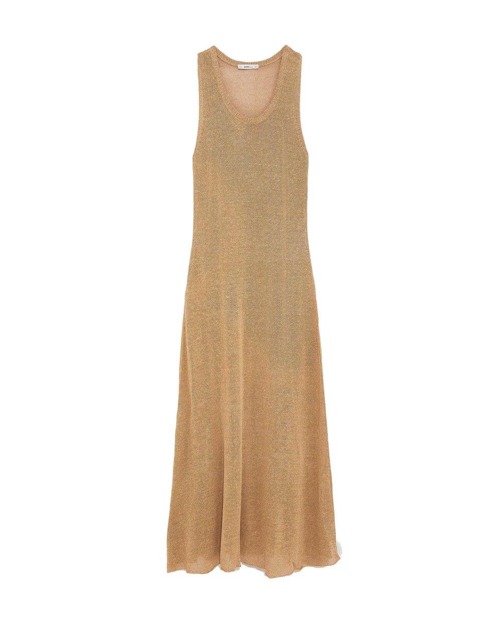 Zara Long Tan Dress $59.90