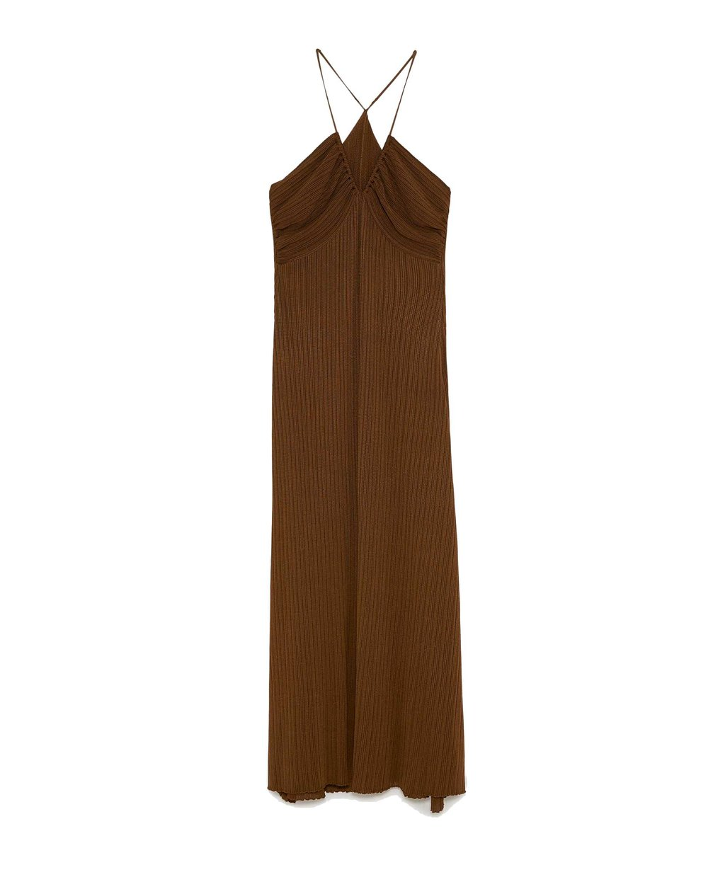 Zara Knit Spaghetti Strap Dress $69.90