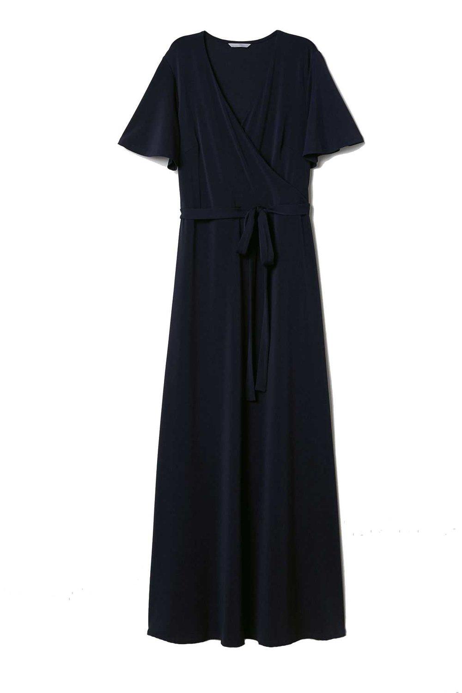 H&M Navy Wrap Dress $39.99
