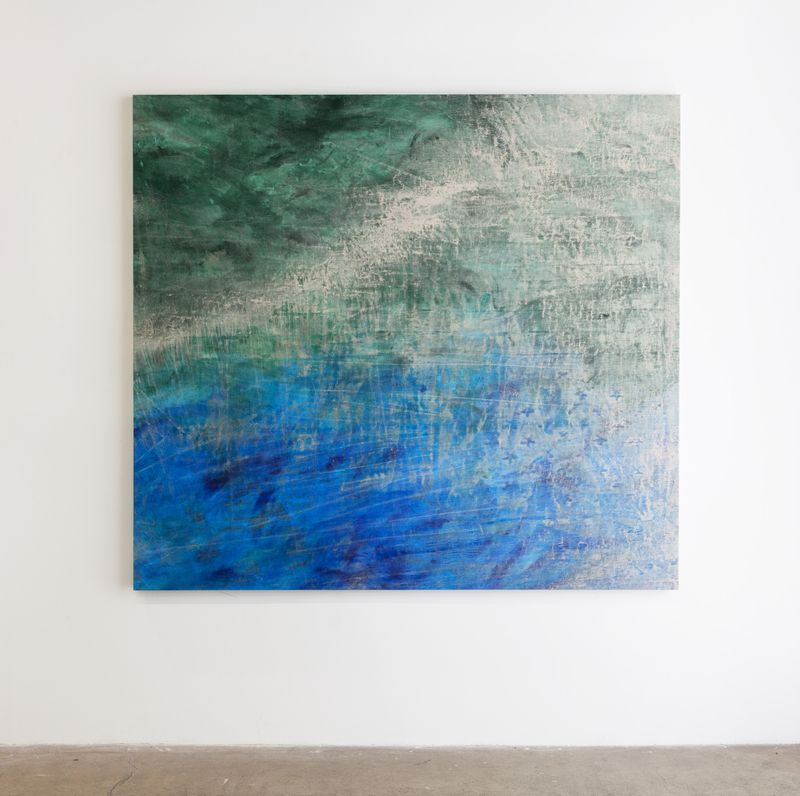 """Cole Sternberg's painting """"a quick dive to a decent depth"""" (Marcus Herse)."""