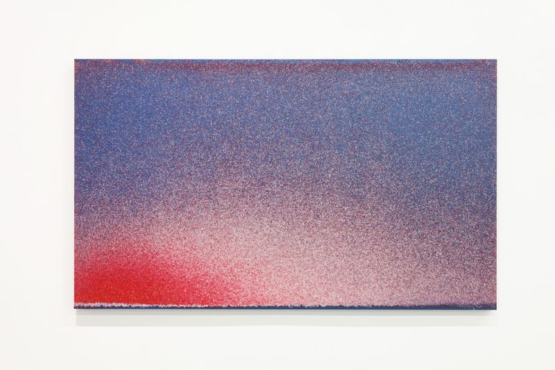 """John Knuth's """"Flyspeck"""" painting, which was created by swarms of flies that had eaten pigments (Marcus Herse)."""