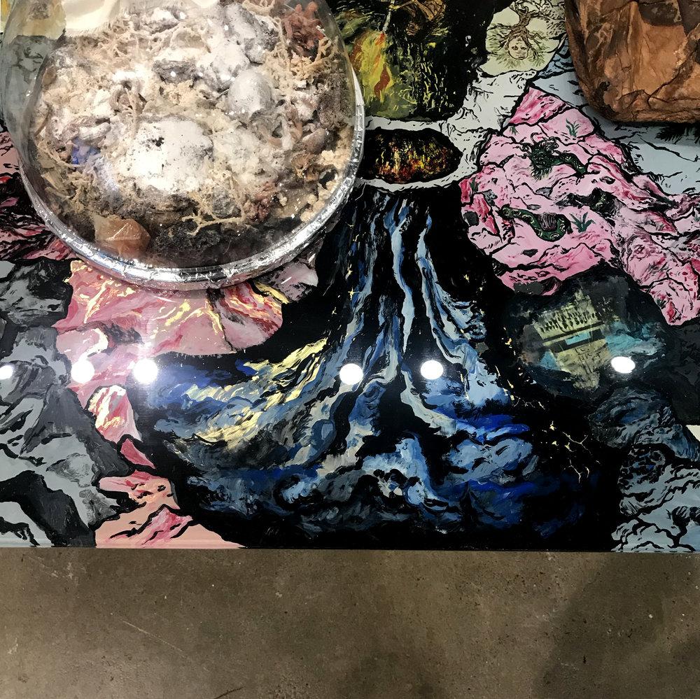 Candace Lin's koji mold sculpture (Marcus Herse).