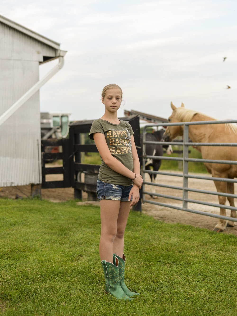Christina at Her Family Farm , 2016, Lawrenceburg, IN