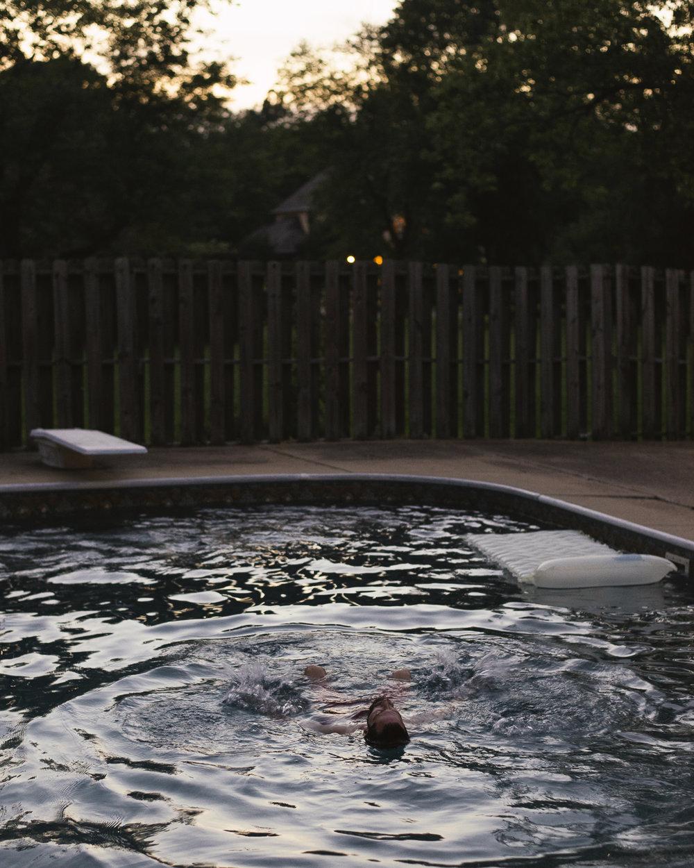 Luke Floating Alone , Union City, TN