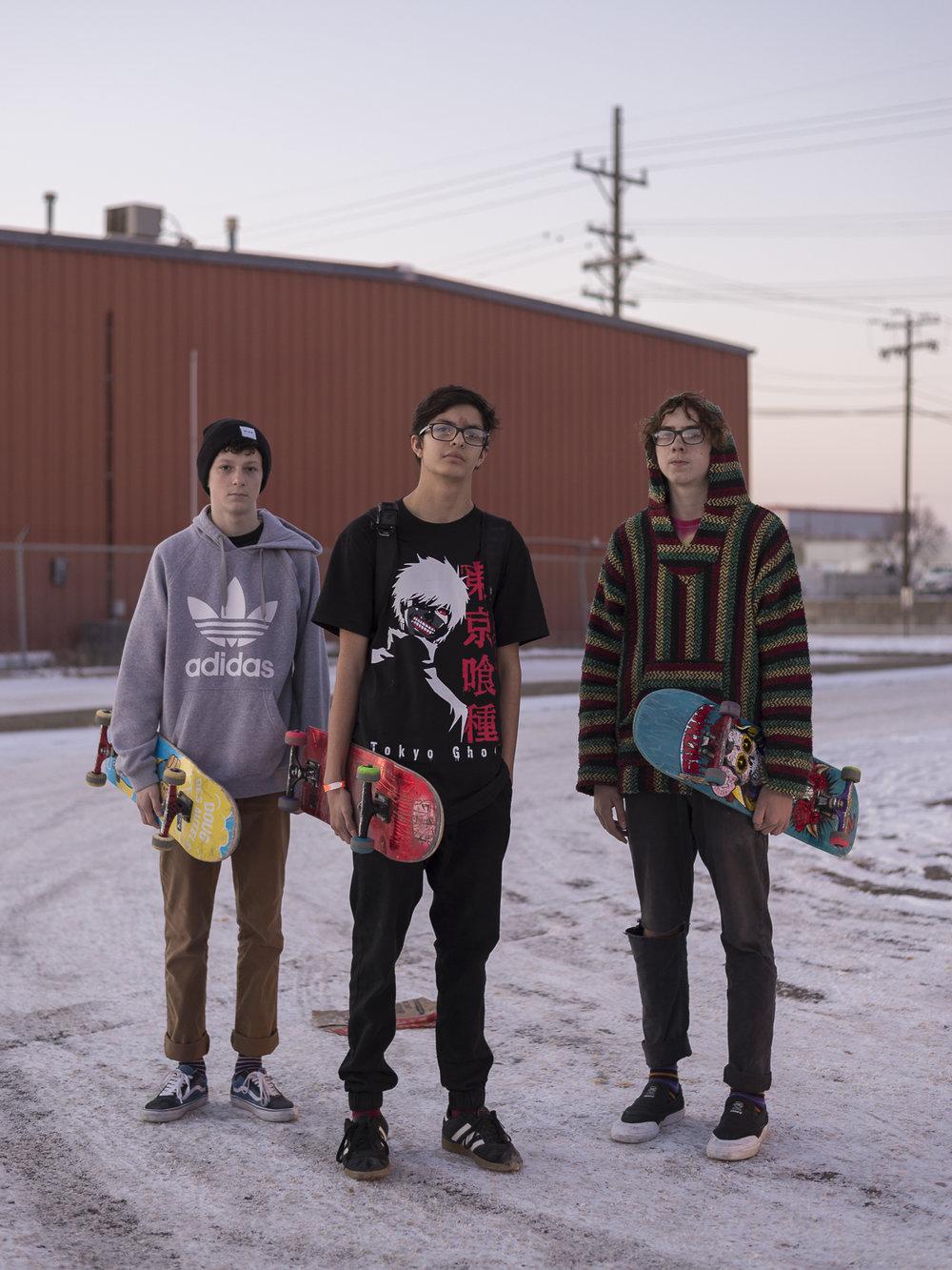 Echo, Shane, and Seth , 2017, Lincoln, NE