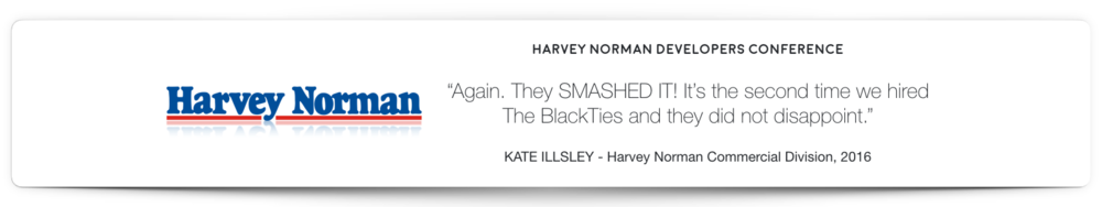 Harvey Norman Magician Hire BlackTies Testimonial