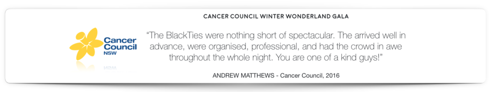 Cancer Council Magician Hire BlackTies Testimonial