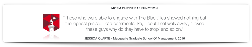 MGSM Magician Hire BlackTies Testimonial