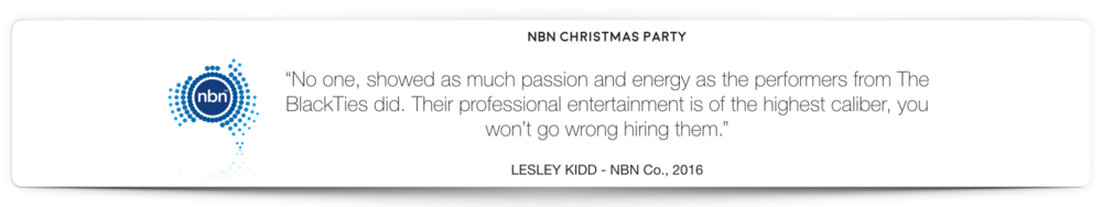NBN Magician Hire BlackTies Testimonial