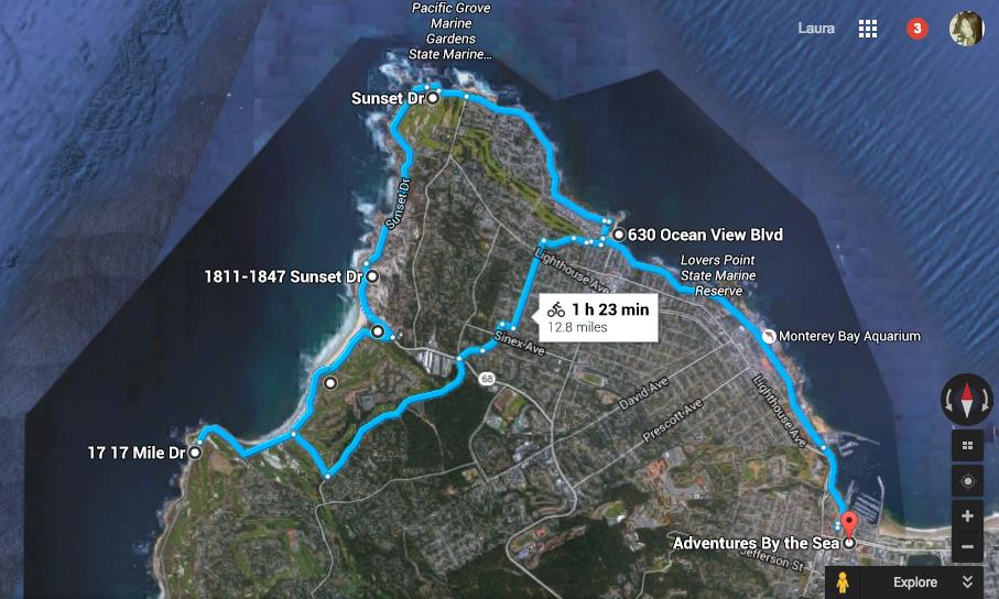 My Sunday morning bike route
