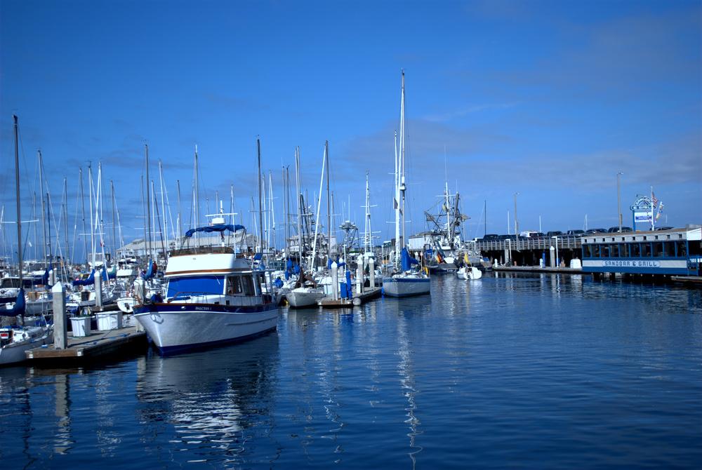 Glassy water at Fisherman's Wharf