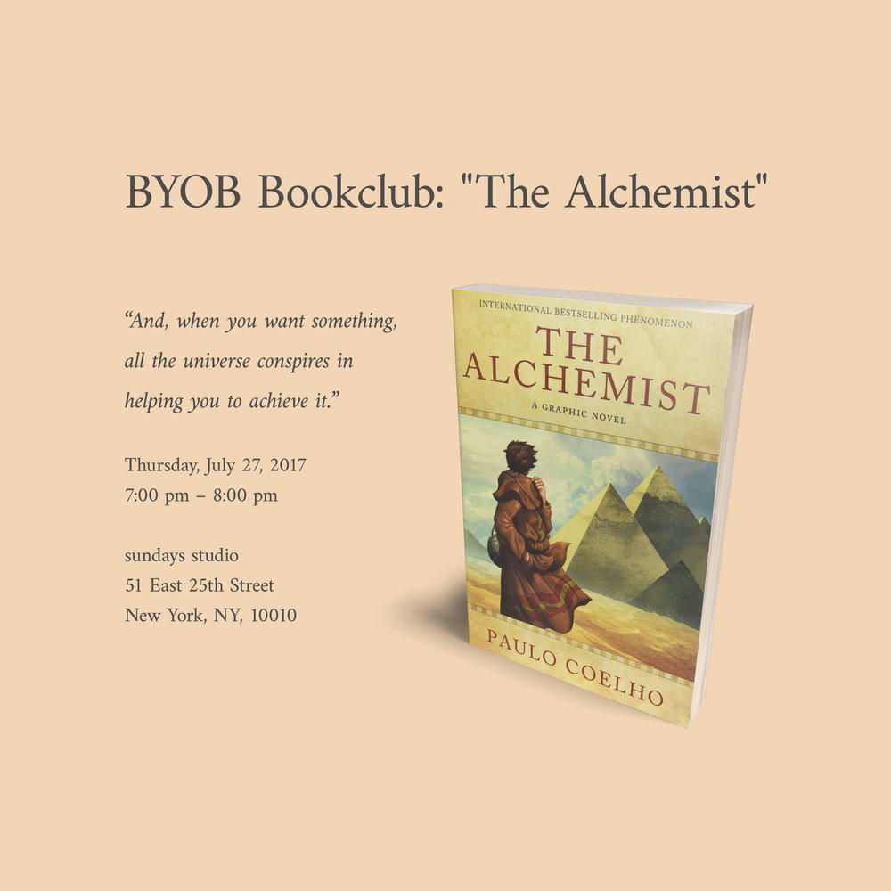 Join us for our monthly book club where we will be discussing The Alchemist. It is a book about self-discovery, life, and love. Even if you haven't read the book, it is still a great opportunity to discuss the meaningful values that appear throughout it.    Sign up now