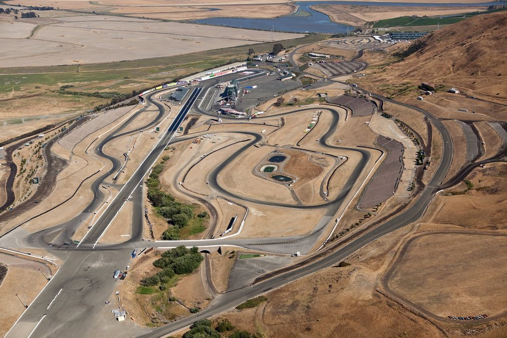 Our local racetracks, Sonoma Raceway, Thunderhill, and Laguna Seca. All 3 able to rent for the club.