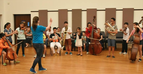 Facilitating a Creative Workshop with young music students in Singapore