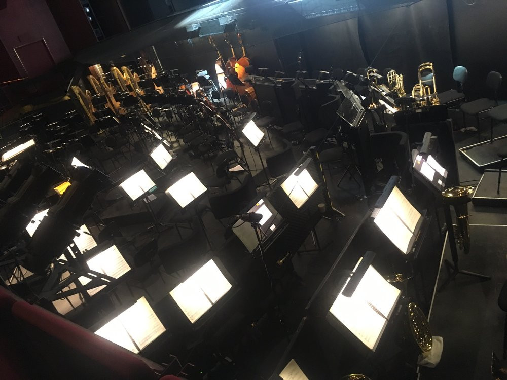 The view of the orchestra pit from above
