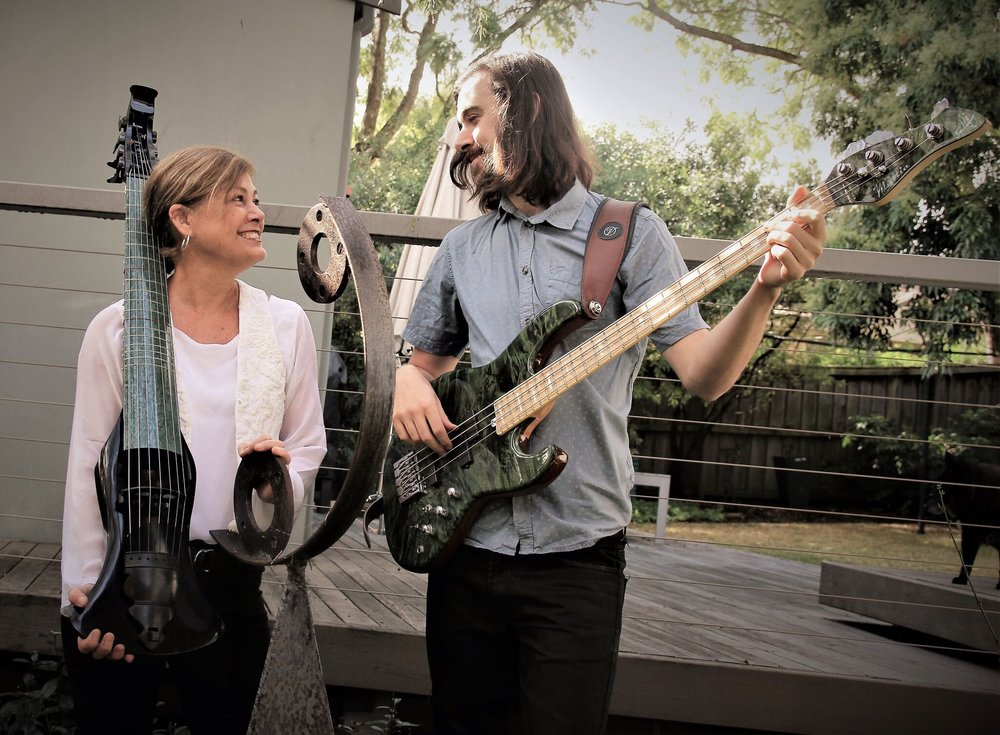 Jenny Eriksson and Elysian Fields' bassist and composer, Siebe Pogson – they also happen to be mother and son! Siebe studied classical piano and jazz at Sydney Conservatorium.