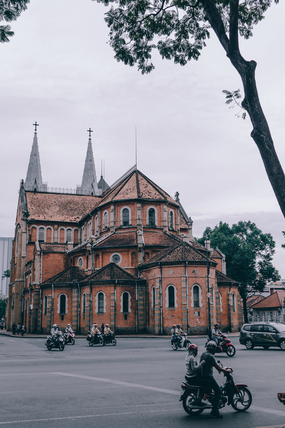 Rear view of the Saigon Notre-Dame Cathedral.