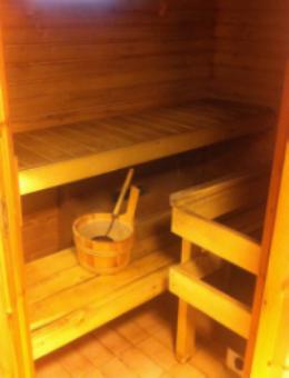 Sauna: lauteet, kiuas, vesikiulu, vesikauha