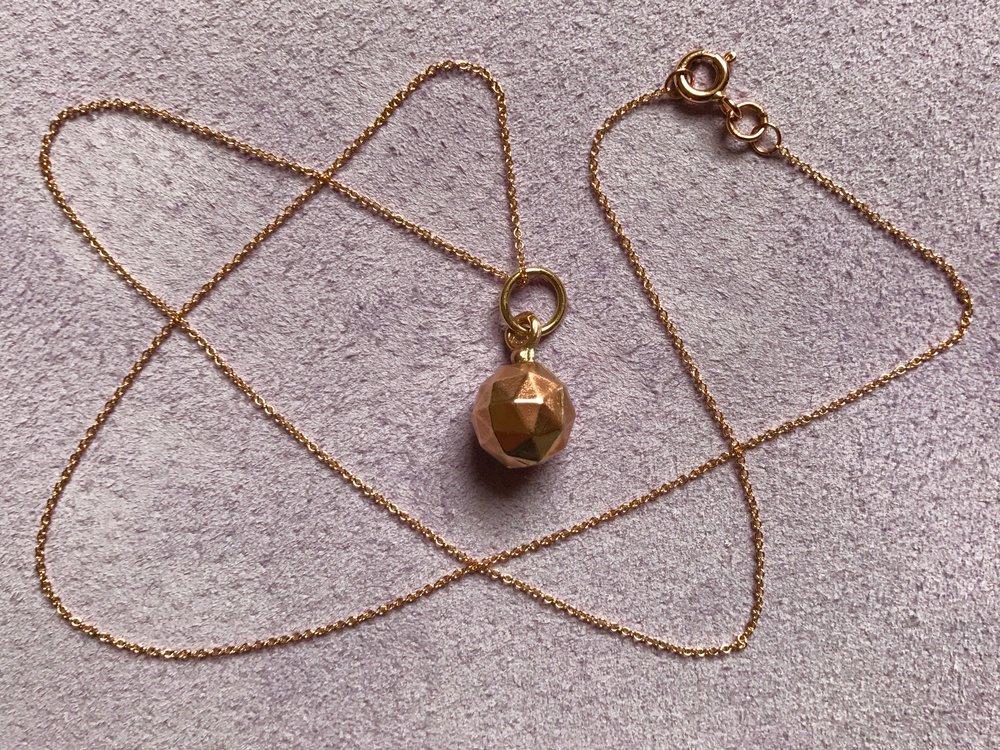 Tara Turner Fine Jewellery, Rose Gold Sphere pendant necklace.jpg