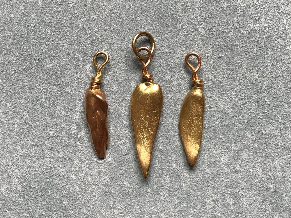 ROSE & YELLOW GOLD MISSISSIPPI PEARL CAST PENDANTS